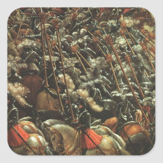 The battle of Issus(fragment) by Albrecht Altdorfe Square Sticker