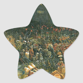 The battle of Issus(fragment) by Albrecht Altdorfe Star Sticker