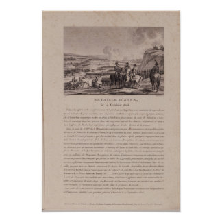 The Battle of Jena, 14th October 1806 Poster