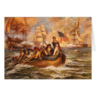 The Battle of Lake Erie by Percy Moran Card