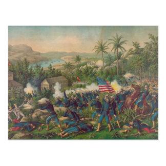 The Battle of Las Guasimas Spanish American War Postcard
