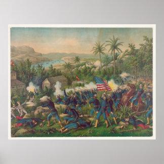 The Battle of Las Guasimas Spanish American War Poster