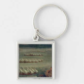 The Battle of Lepanto, 7th October 1571 Silver-Colored Square Keychain