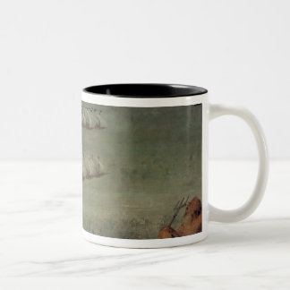 The Battle of Lepanto, 7th October 1571 Two-Tone Coffee Mug