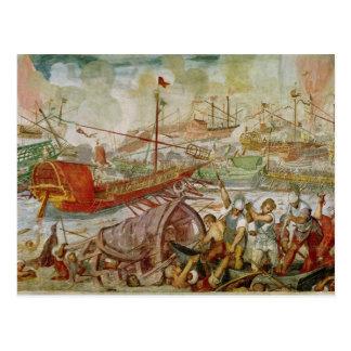 The Battle of Lepanto, October 1571, 1600 Postcard