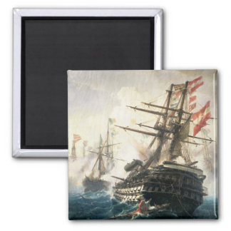The Battle of Lissa 2 Inch Square Magnet