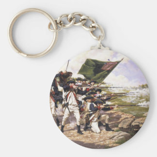 The Battle of Long Island by Domenick D'Andrea Basic Round Button Keychain