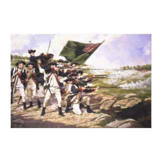 The Battle of Long Island by Domenick D'Andrea Canvas Prints