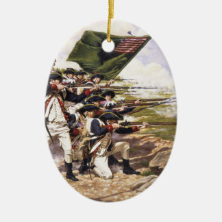 The Battle of Long Island by Domenick D'Andrea Ceramic Ornament