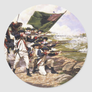 The Battle of Long Island by Domenick D'Andrea Classic Round Sticker