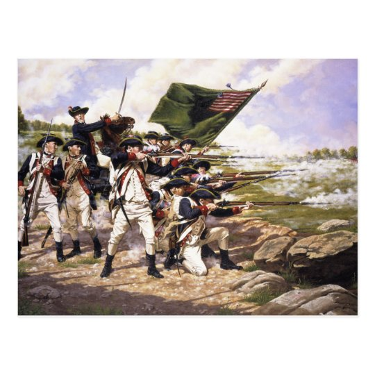 The Battle of Long Island by Domenick D'Andrea Postcard