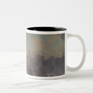 The Battle of Louisbourg on the 21st July 1781 Two-Tone Coffee Mug