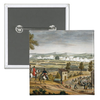 The Battle of Lutzen, 2 May 1813, engraved by Edme Pinback Button