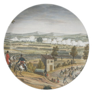 The Battle of Lutzen, 2 May 1813, engraved by Edme Melamine Plate