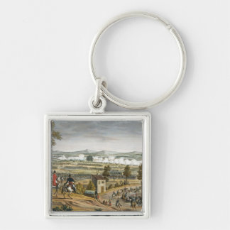 The Battle of Lutzen, 2 May 1813, engraved by Edme Silver-Colored Square Keychain