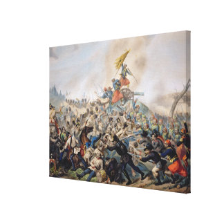 The Battle of Magenta Stretched Canvas Print
