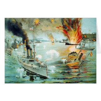 The Battle of Manila Bay Spanish American War Card