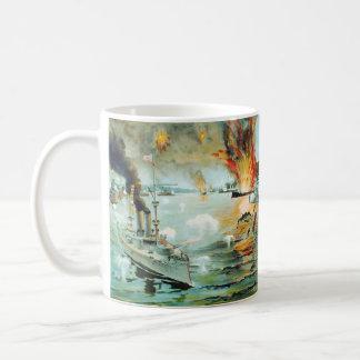 The Battle of Manila Bay Spanish American War Coffee Mugs