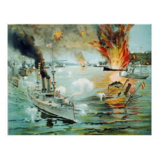 The Battle of Manila Bay Spanish American War Poster