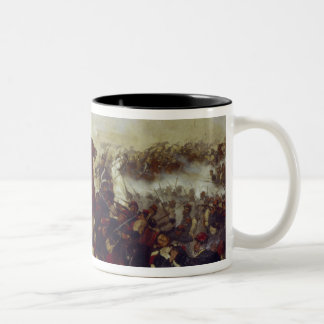 The Battle of Mars de la Tour Two-Tone Coffee Mug