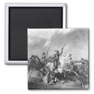 The Battle of Marston Moor, 2nd July 1644 2 Inch Square Magnet