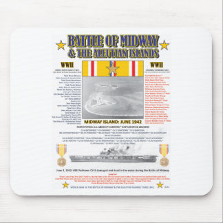 THE BATTLE OF MIDWAY & ALEUTIAN ISLAND WW II MOUSE PAD