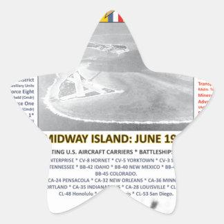 THE BATTLE OF MIDWAY & ALEUTIAN ISLAND WW II STAR STICKER