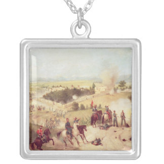 The Battle of Molino del Rey, 8th September 1847 Square Pendant Necklace