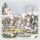 The Battle of Moscow, 7th September 1812 Square Sticker