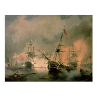 The Battle of Navarino, 20th October 1827, 1846 Postcard