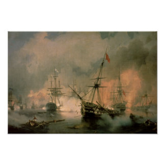 The Battle of Navarino, 20th October 1827, 1846 Poster