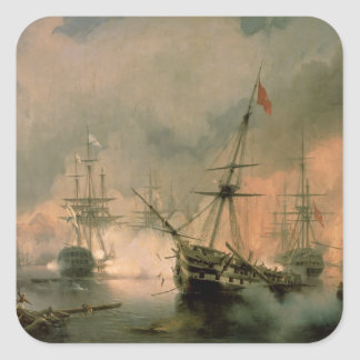 The Battle of Navarino, 20th October 1827, 1846 Square Sticker