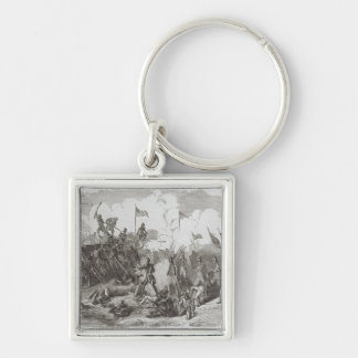 The Battle of New Orleans Silver-Colored Square Keychain