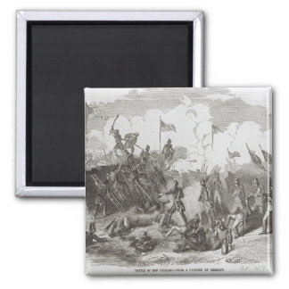 The Battle of New Orleans 2 Inch Square Magnet