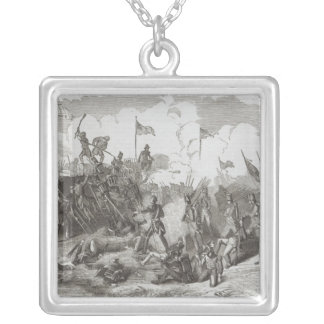 The Battle of New Orleans Square Pendant Necklace