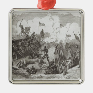 The Battle of New Orleans Square Metal Christmas Ornament