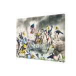 The Battle of New Orleans, pub.Nathaniel Currier Gallery Wrap Canvas