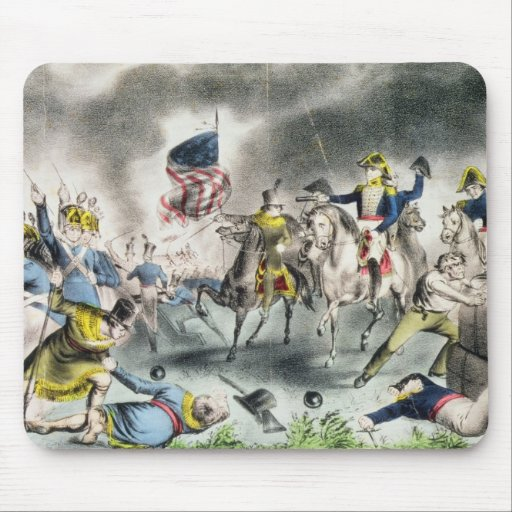 The Battle of New Orleans, pub.Nathaniel Currier Mousepads
