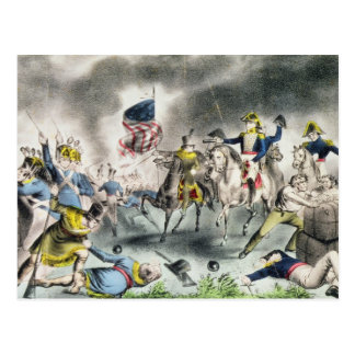 The Battle of New Orleans, pub.Nathaniel Currier Postcard