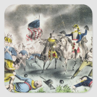 The Battle of New Orleans, pub.Nathaniel Currier Square Sticker