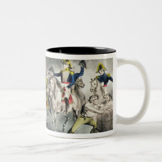 The Battle of New Orleans, pub.Nathaniel Currier Two-Tone Coffee Mug
