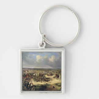 The Battle of Paris on 17th March 1814, 1834 Silver-Colored Square Keychain