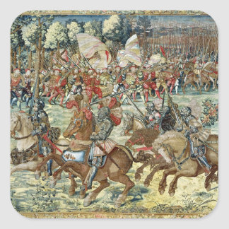 The Battle of Pavia. The Advance of Charles V Square Sticker