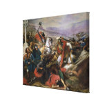 The Battle of Poitiers, won by Charles Martel Gallery Wrap Canvas