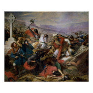 The Battle of Poitiers, won by Charles Martel Poster