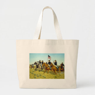 The Battle of Prairie Dog Creek by Ralph Heinz Tote Bags