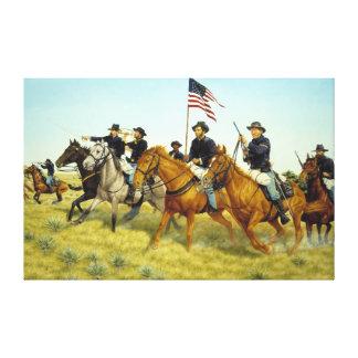 The Battle of Prairie Dog Creek by Ralph Heinz Canvas Print
