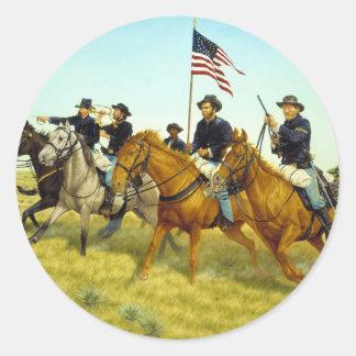 The Battle of Prairie Dog Creek by Ralph Heinz Classic Round Sticker