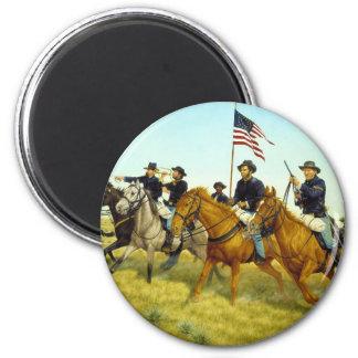 The Battle of Prairie Dog Creek by Ralph Heinz 2 Inch Round Magnet