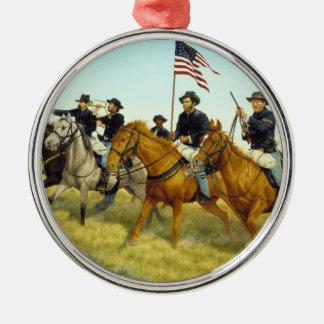 The Battle of Prairie Dog Creek by Ralph Heinz Christmas Ornaments